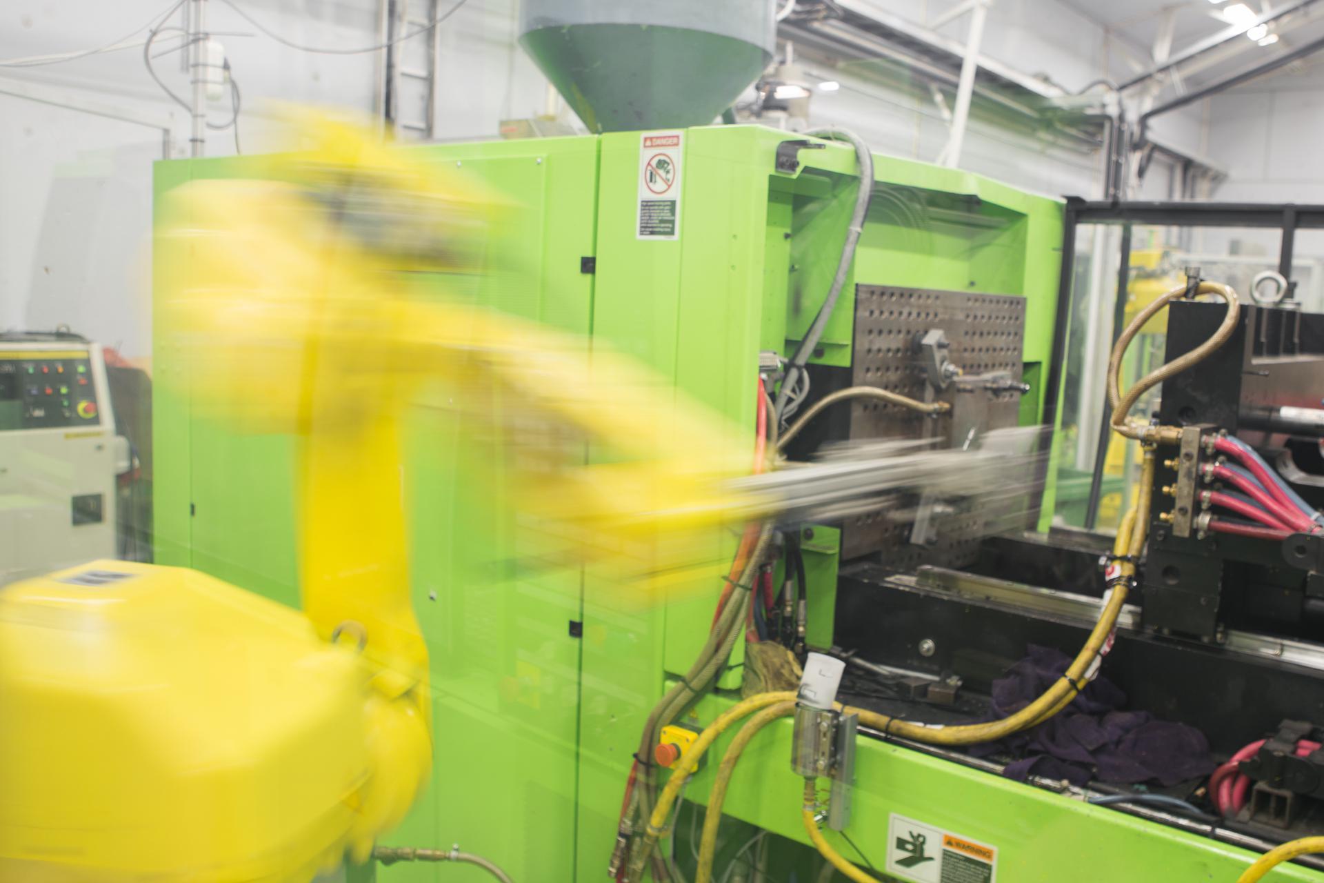 Tuotannon robottikuva.